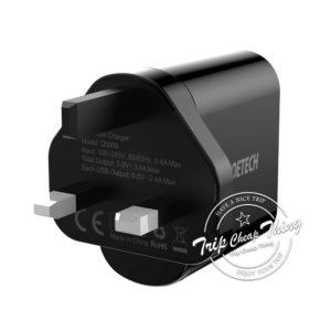 CHOETECH 3 USB電壓顯示充電插座 (3.4A快充)
