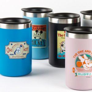🇰🇷韓國KANU淺培美式咖啡+復古風迪士尼不鏽鋼杯套裝