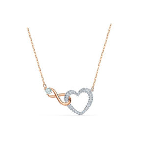 Swarovski 「愛」及「無盡」INFINITY HEART 項鏈